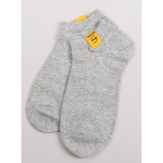 Krátke dámske ponožky sivej farby