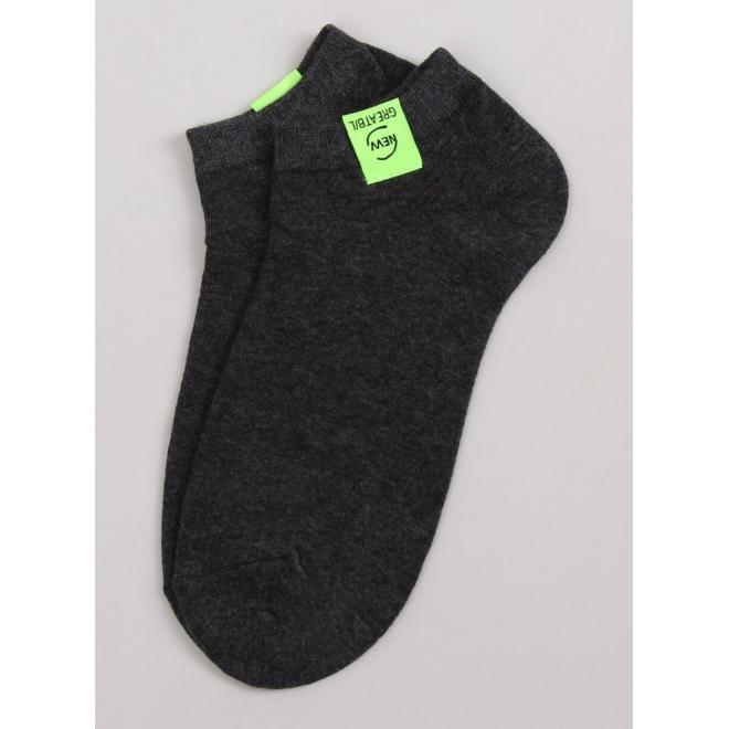 Dámske krátke ponožky v tmavosivej farbe