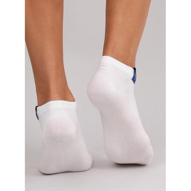 Biele krátke ponožky pre dámy