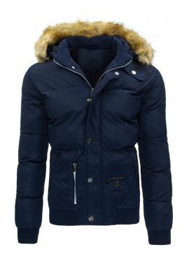 Bunda na zimu v čiernej farbe s odopínateľnou kapucňou