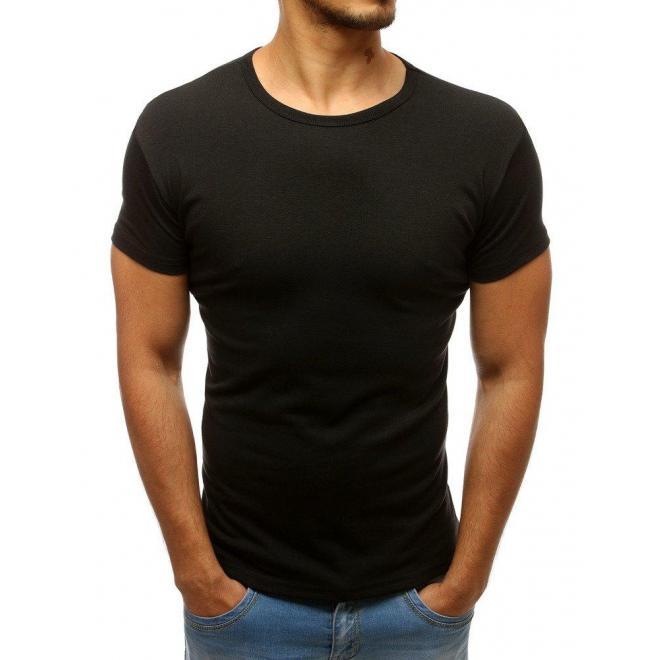 Sivé tričko s okrúhlym výstrihom pre pánov