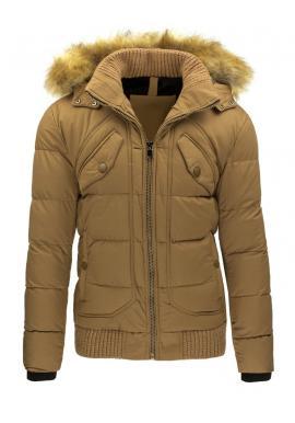 Zimná bunda s kapucňou pre pánov v čiernej farbe
