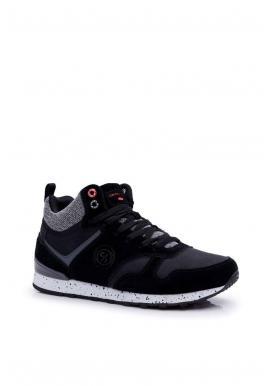 Čierne kotníkové tenisky Cross Jeans pre pánov