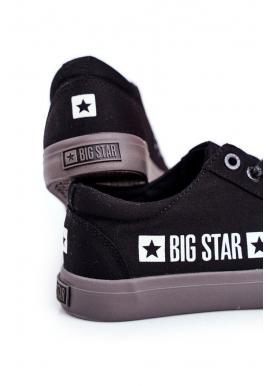 Plátené pánske tramky Big Star čiernej farby