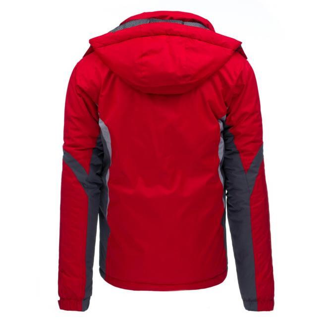 Lyžiarska pánska bunda modrej farby s reflexnými prvkami