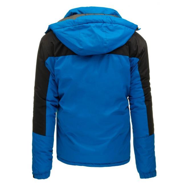 Pánska lyžiarska bunda v sivej farbe s kapucňou