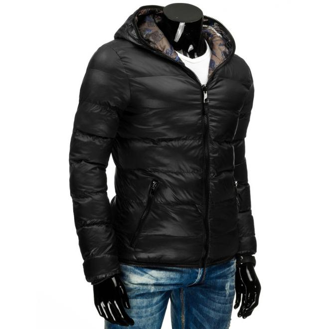 Obojstranná pánska bunda tmavomodrej farby