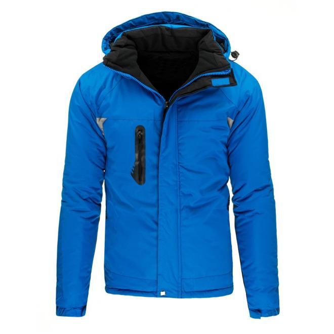 Lyžiarska pánska bunda na zimu v čiernej farbe