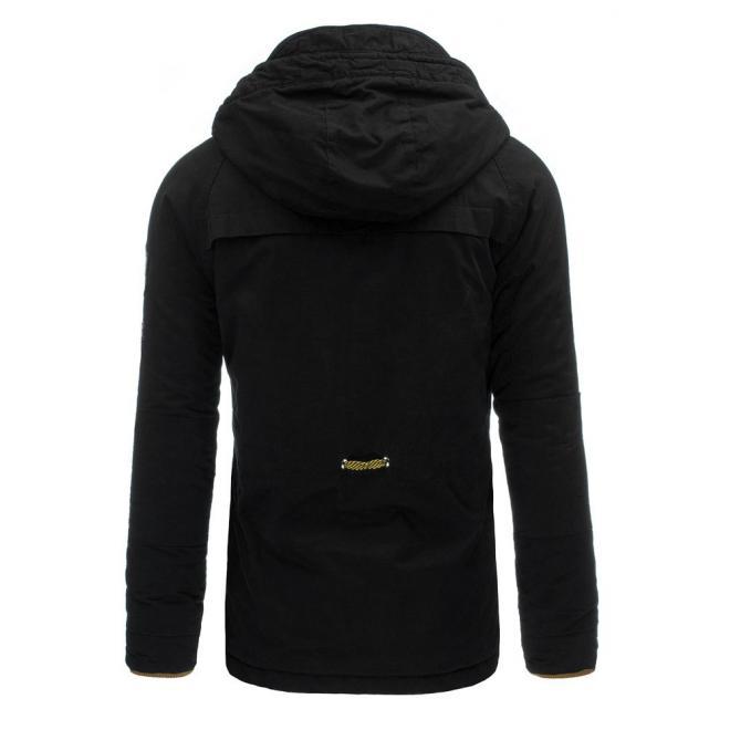 Zimná lyžiarska bunda pre pánov v tmavomodrej farbe