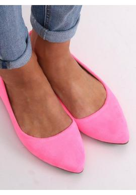 Ružové semišové balerínky pre dámy