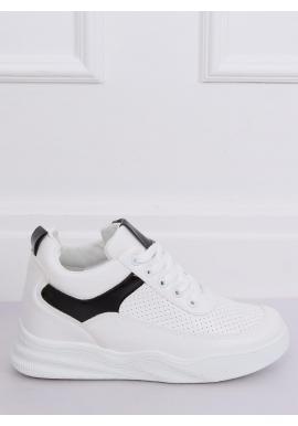 Športové dámske tenisky bielo-čiernej farby na skrytom opätku
