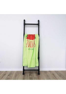 Obdĺžnikový plážový ručník zelenej farby s motívom vodného melóna