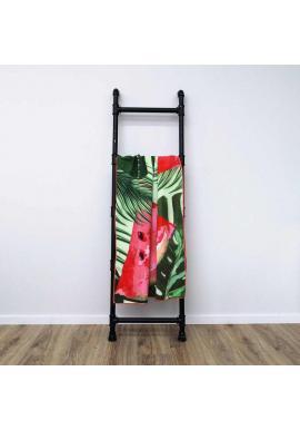 Farebný obdĺžnikový ručník na pláž s tropickým motívom