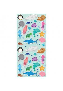 Zelený plážový ručník s motívom vodných zvierat