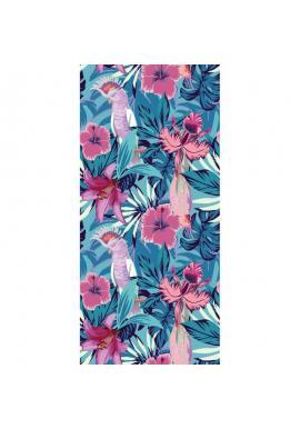 Plážový ručník s farebným tropickým motívom