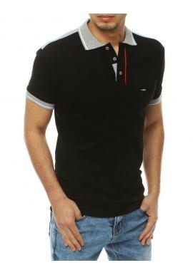 Klasická pánska polokošeľa čiernej farby s vreckom na hrudi