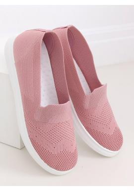 Dámske nazúvacie tenisky s pružnou podrážkou v ružovej farbe