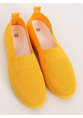 Nazúvacie dámske tenisky žltej farby s pružnou podrážkou