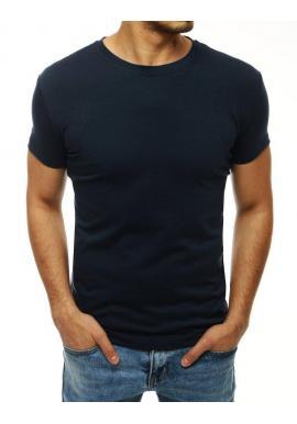 Tmavomodré klasické tričko s krátkym rukávom pre pánov
