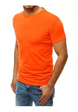 Pánske klasické tričko s krátkym rukávom v oranžovej farbe