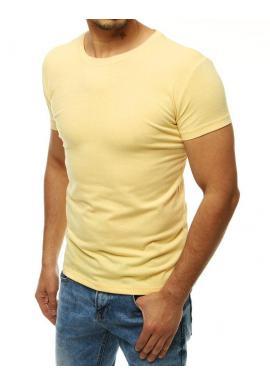 Klasické pánske tričko svetložltej farby s krátkym rukávom