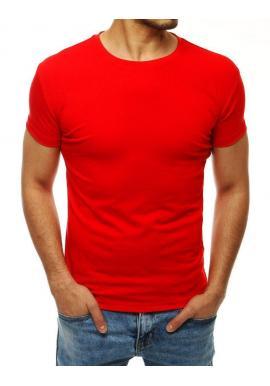 Červené klasické tričko s krátkym rukávom pre pánov
