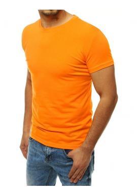 Pánske klasické tričko s krátkym rukávom v svetlooranžovej farbe