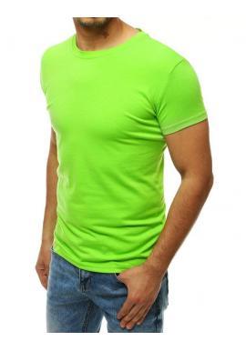Klasické pánske tričko limetkovej farby s krátkym rukávom