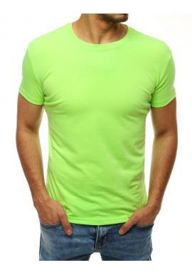 Svetlozelené klasické tričko s krátkym rukávom pre pánov