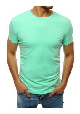 Pánske klasické tričko s krátkym rukávom v mätovej farbe