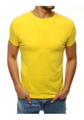 Klasické pánske tričko žltej farby s krátkym rukávom