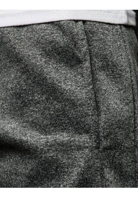 Štýlové pánske tepláky tmavosivej farby s potlačou