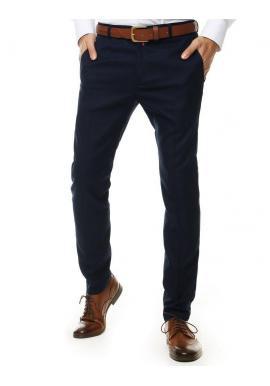 Klasické pánske nohavice tmavomodrej farby