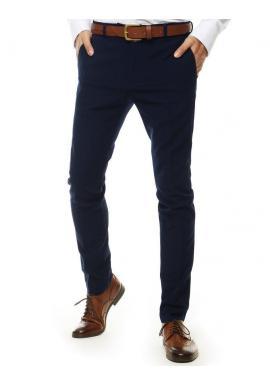 Tmavomodré klasické nohavice pre pánov