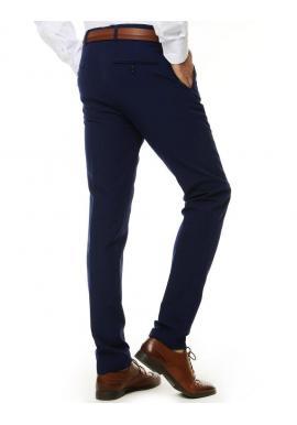 Elegantné pánske nohavice modrej farby