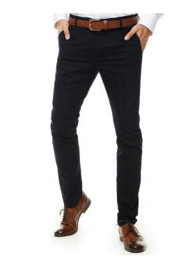 Pánske elegantné nohavice v tmavomodrej farbe