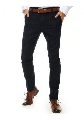 Tmavomodré pásikavé nohavice pre pánov