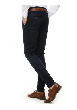 Pánske klasické nohavice v tmavomodrej farbe