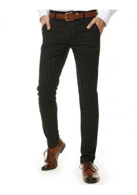 Čierne pásikavé nohavice pre pánov