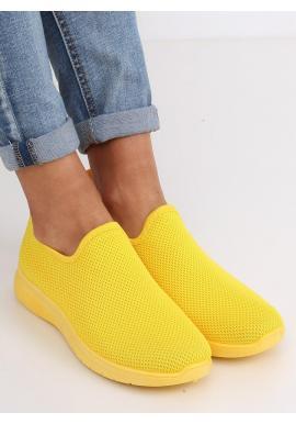 Žlté nazúvacie tenisky pre dámy