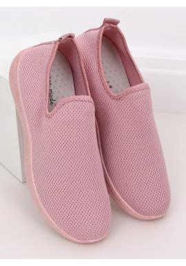 Dámske nazúvacie tenisky v ružovej farbe