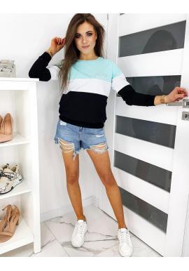 Dámska štýlová mikina s výšivkou GIRL BOSS v mätovej farbe
