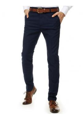 Elegantné pánske nohavice tmavomodrej farby