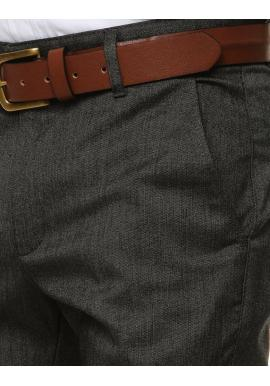 Pánske klasické nohavice v tmavosivej farbe