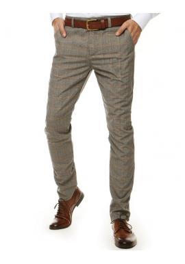 Elegantné pánske nohavice sivej farby so vzorom