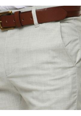 Pánske klasické nohavice v svetlosivej farbe