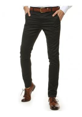 Tmavosivé klasické nohavice pre pánov