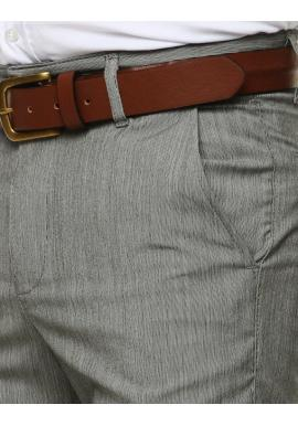 Elegantné pánske nohavice svetlosivej farby