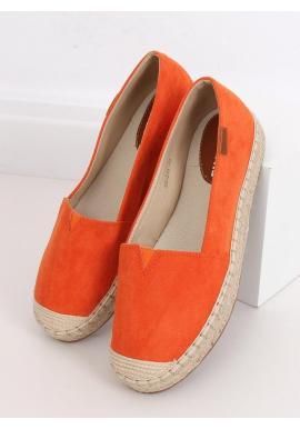 Dámske klasické espadrilky s vysokou podrážkou v oranžovej farbe