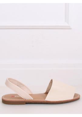 Béžové minimalistické sandále s plochým opätkom pre dámy